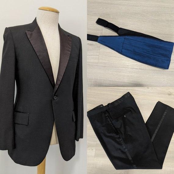 Vintage 1970's Men's Tuxedo Suit Vintage Tuxedo Bl