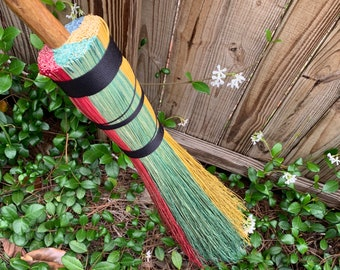 House Colors Wizard Broom, Flyer, Besom Broom, Fantasy, Cosplay, Broom, Witch Broom, Broom, Broomstick, Halloween Costume