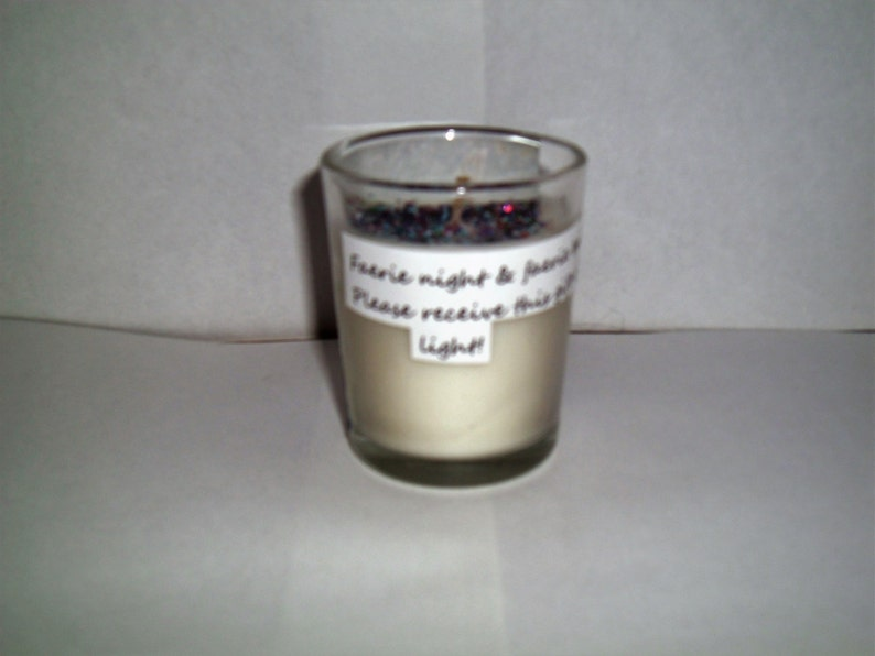 Small blue fairy candle