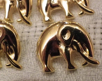 6 elephants in brass for making set to put on your creations