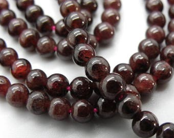 95 round 4 mm Burgundy Garnet natural gemstones