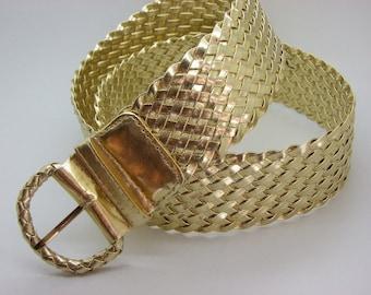 dcc6cf9f21d ceinture doré synthétique tressée 5 cm 5 de large