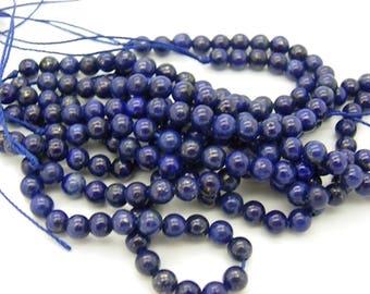 30 lapis lazuli 6 mm blue stone of life