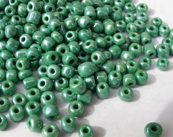 approximately 200 beads beads 4 mm multicolre green seed beads