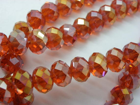 50 Crystal Rondelle Abacus Glass Beads Crystal Clear 4.5mm