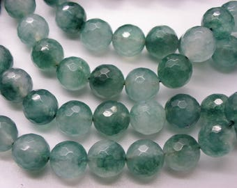 15 10 mm Green freshwater faceted jade deteriorating a hue nuagee