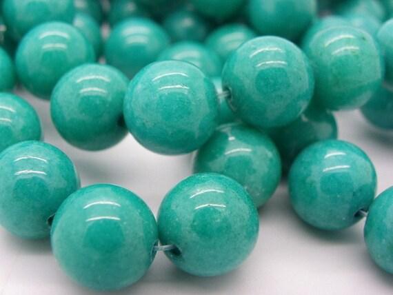 25 perles de jade 10 mm vert meraude jasp une belle. Black Bedroom Furniture Sets. Home Design Ideas