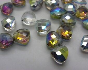 30 pearls shiny Crystal triangle shaped pendant