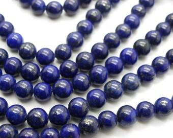 45 lapis lazuli 8 mm blue stone of life