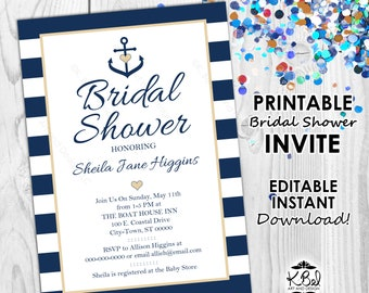 nautical invitations etsy