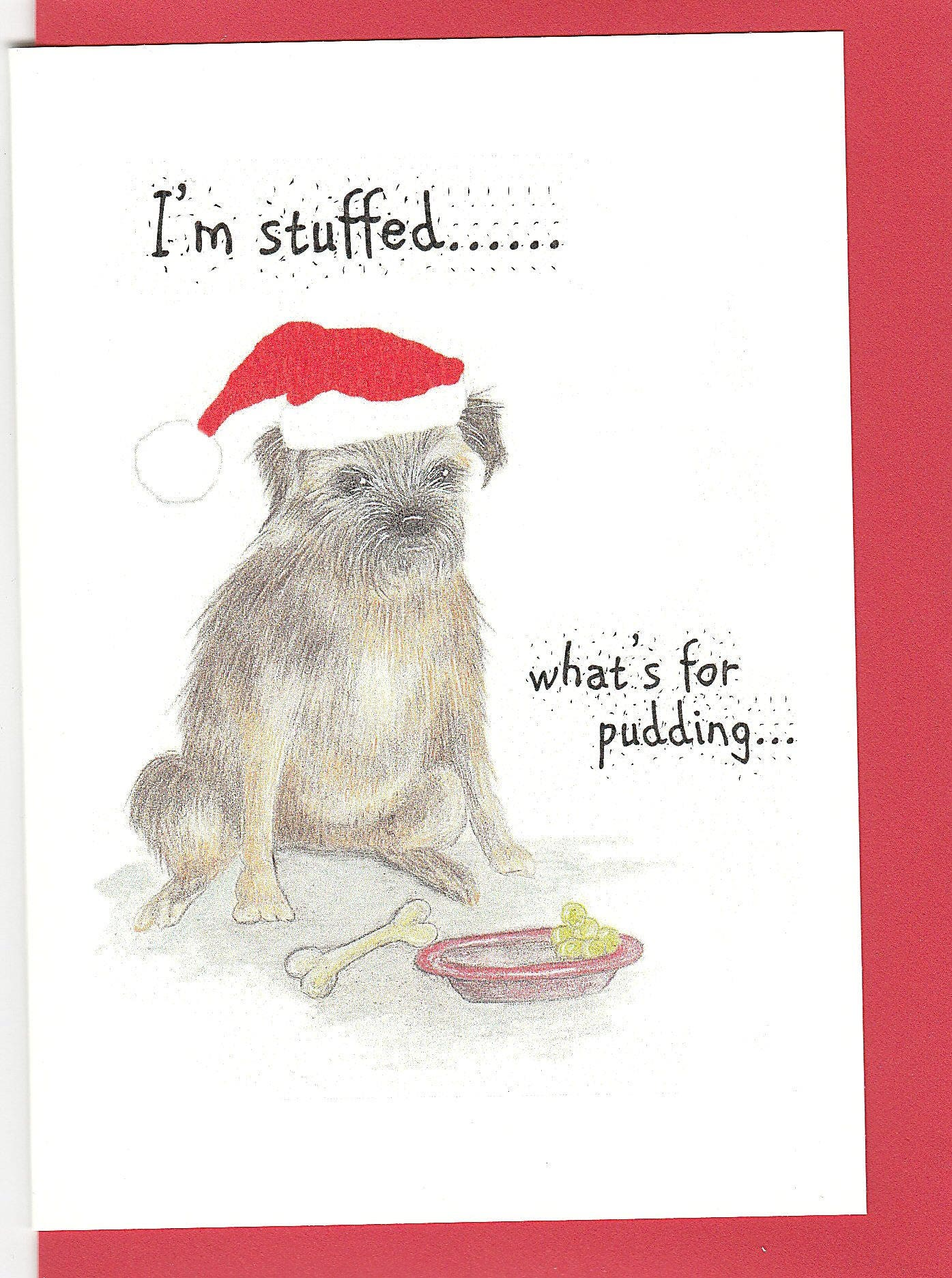 border terrier christmas card border terrier with