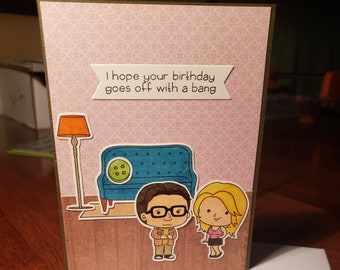 Celebrate with a bang card