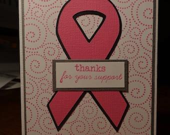 Pink ribbon with pink swirls