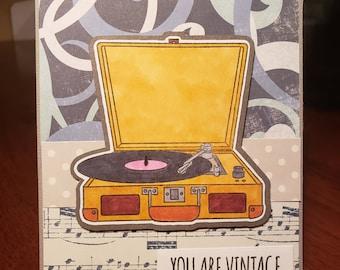 Blank Vintage card