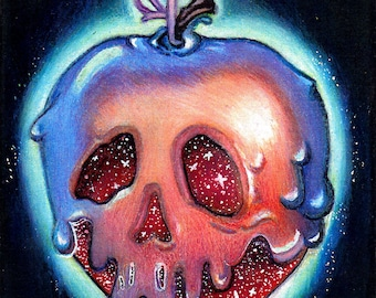 4x6 Poisoned Apple Print