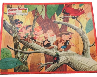 The Little People Tray Puzzle by Jaymar & Waltz Scott