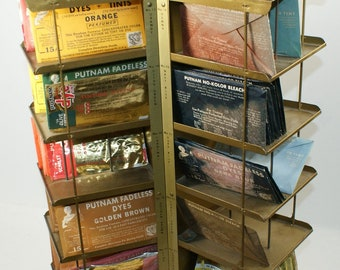 Putnam Fadeless Dyes Spinning Store Display