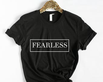 Fearless Tshirt, Fearless shirt, Motivational Tshirt, Workout Shirt, Yoga, Barre, Gym shirt