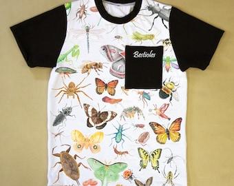 T-shirt pour enfant avec insectes