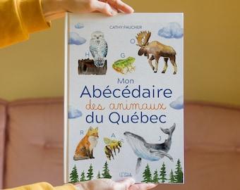 livre Mon abécédaire des animaux du Québec Cathy Faucher illustration