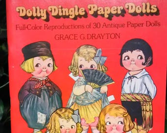 Antique Paper Dolls  Dolly Dingle  Paper Dolls Full Color Reproductions of 30 Antique Paper Dolls Grace Drayton