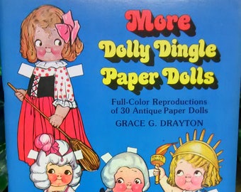 Antique More Dolly Dingle Paper Dolls Full Color Reproductions of 30 Antique Paper Dolls Grace G Drayton
