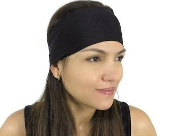 Yoga Headband Black Headband Fitness Headband Workout Headband Wide Headband No Slip Headband Gym Women Headband Wicking Headband S9