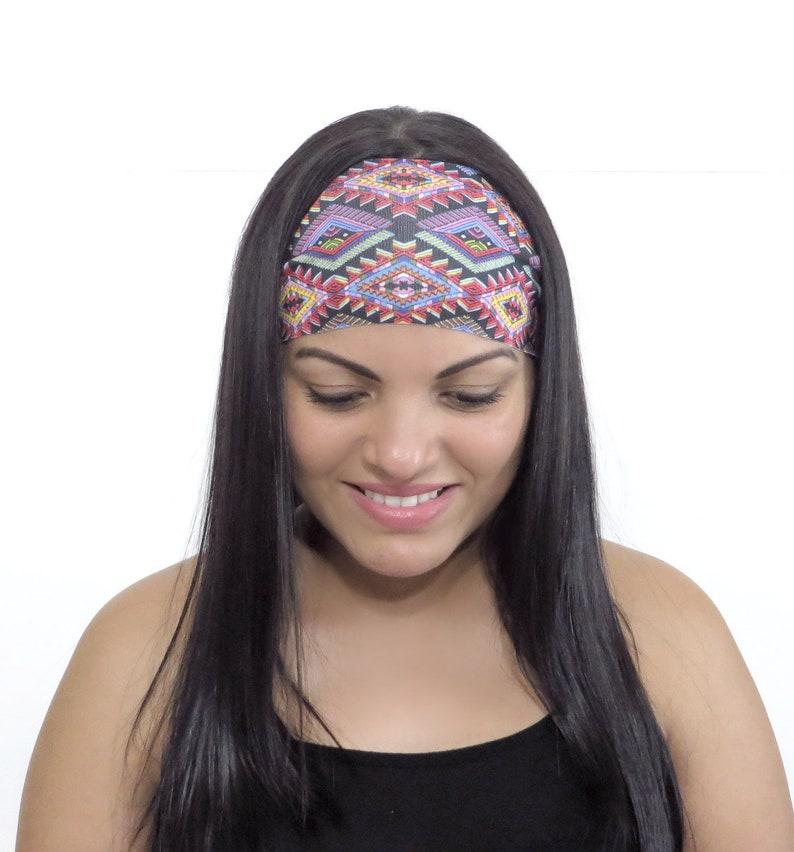 0b2855b5b67fd Wide Hippie Headband Yoga Headband Bohemian Headband Workout Headband No  Slip Fitness Headband Running Headband Women Turban Headband S222