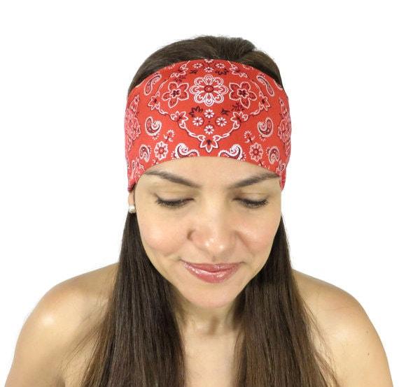 Yoga Headband Red Bandana Headband No Slip Headband Workout Headband  Fitness Headband Hippie Headband Hair Accessories Festival Headband S79 1d0587d16fb