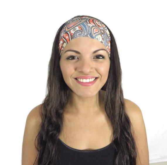 28446b8d53bdc Bohemian Headband Running Headband Yoga Headband Fitness Headband Workout  Headband No Slip Headband Wide Turban Gym Gear Women Headband S198