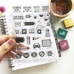 Planner Addict 4x6 Photopolymer Stamp set/ Planner Accessories: Erin Condren, Filofax, planners