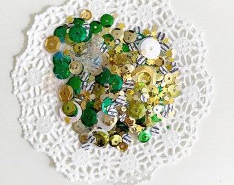 St Patrick's Day sequins mix