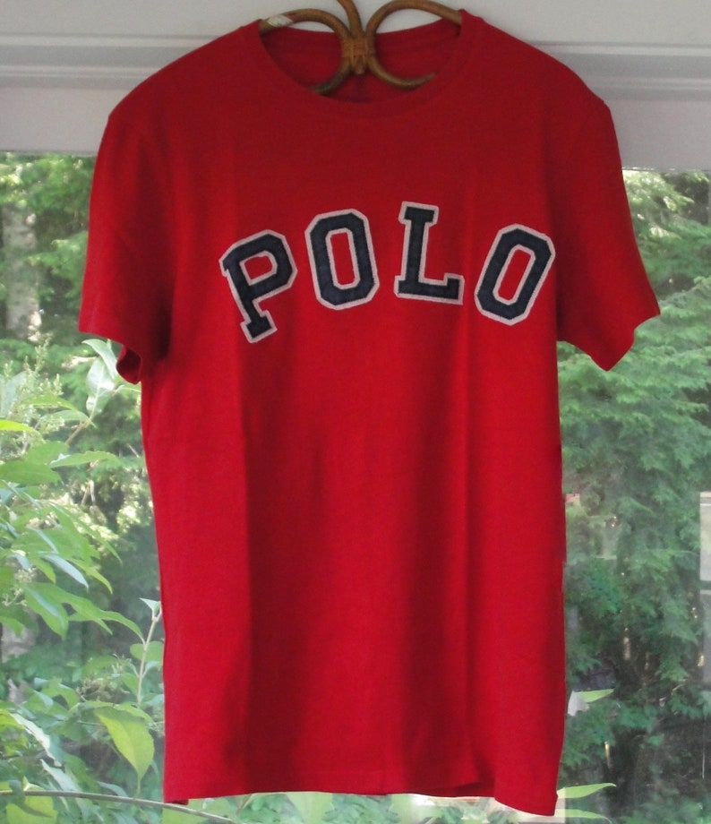 Vintage T Collegiate Ralph With Crew Polo Custom Fit Style Lauren Shirt Medium rdBoeCxWQ