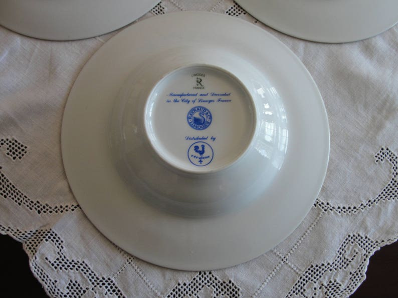 Raynaud Ceralene Limoges Vieux Chine Empire White 1 Rim Soup or Bowl A