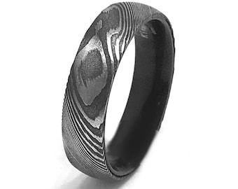Damascus Steel Ring Etsy