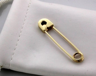 14K Yellow Gold Safety Pin