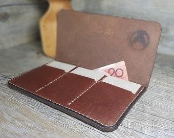 Ladie's Leather Wallet, Ladies Leather Purse, Gift for Woman, Gift, Minimalistic, Foxtrot 01