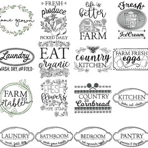 Farmhouse Christmas Gift Tags SVG Bundle Cut and Printable Files Christmas SVG Clipart Personal and Small Business Use 22 SVG