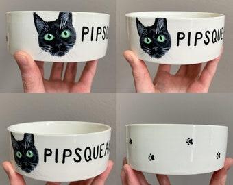 Cat Lovers Bowl Cat Gift for Women Custom Cat Gift Custom Enamel Bowl Cat Camp Bowl Funny Cat Gift