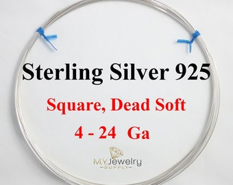 Mold-able 1 Troy Ounce Solid .925 Sterling Silver Dead Soft Round Wire Gauge 4-24 Wire  Wrapping Made in USA DYI Jewelry Crafts