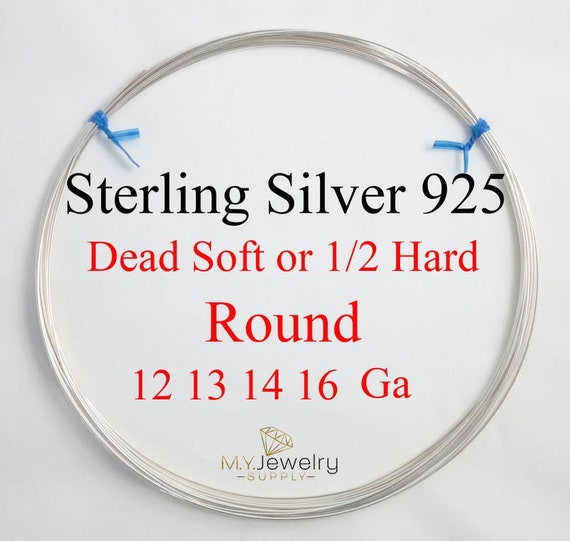 Argentium Sterling Silver Wire You Pick Gauge 14 Troy Ounce HH or DS Made in the USA Non Tarnish Half Hard or Dead Soft
