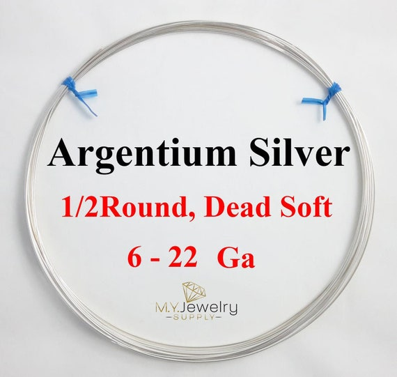 24,26,28 GA 935 Argentium Sterling Silver Dead Soft Round wire wrapping jewelry
