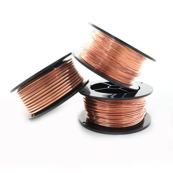 20 Ga Solid Copper Wire  Round Half Hard  1//2 LB 162 Ft Spool