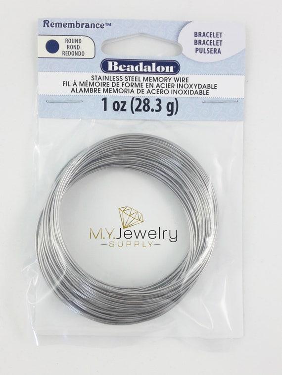 Silver Plated Beadalon 5 m 22 Gauge Half Round Wire