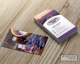 Personalized Business Card, Direct Sales, Small Business, Essential Oil, Lavender, Printed
