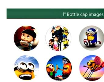 Minions Bottlecap Images Template Cupcake Transfer Cutout