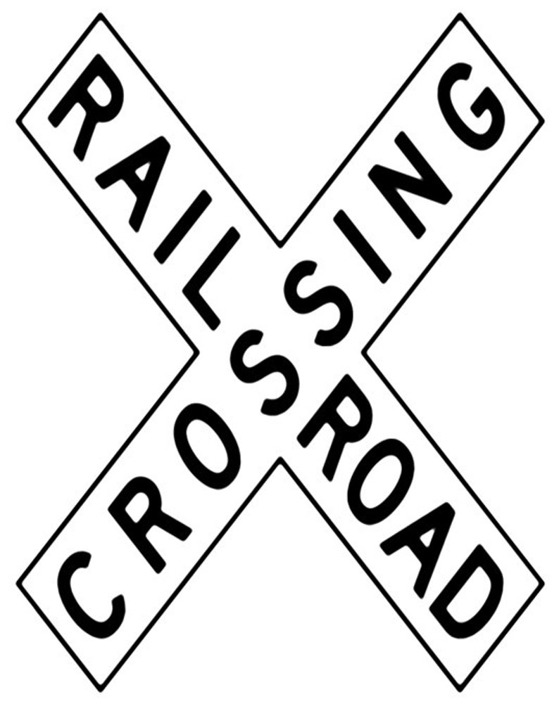 Train Sign Image, RR Crossing Poster, RR Sign Image,rr Wall Art, rr  Print,Kids Room Print,RR Wall Décor,Kids Room,Baby Room,Kids Room Poster