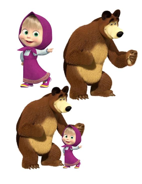 Masha Image Masha Cutout Masha And The Bear Image Masha And The Bear Cutout Masha Templatelarge Masha And Beartv Cartoon Cutout