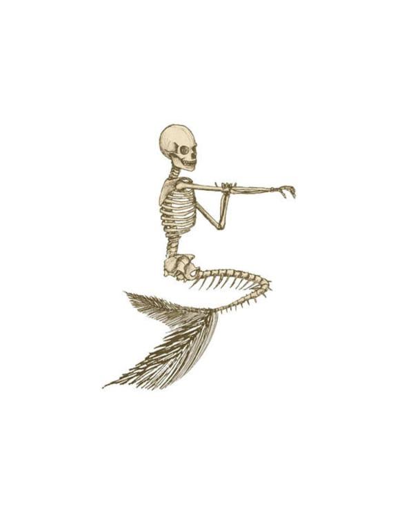 Mermaid Image Skeleton Image Mermaid Skeleton Image Mermaid | Etsy