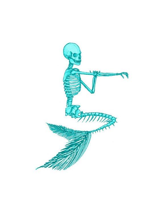 Mermaid image skeleton image mermaid skeleton image mermaid etsy image 0 maxwellsz
